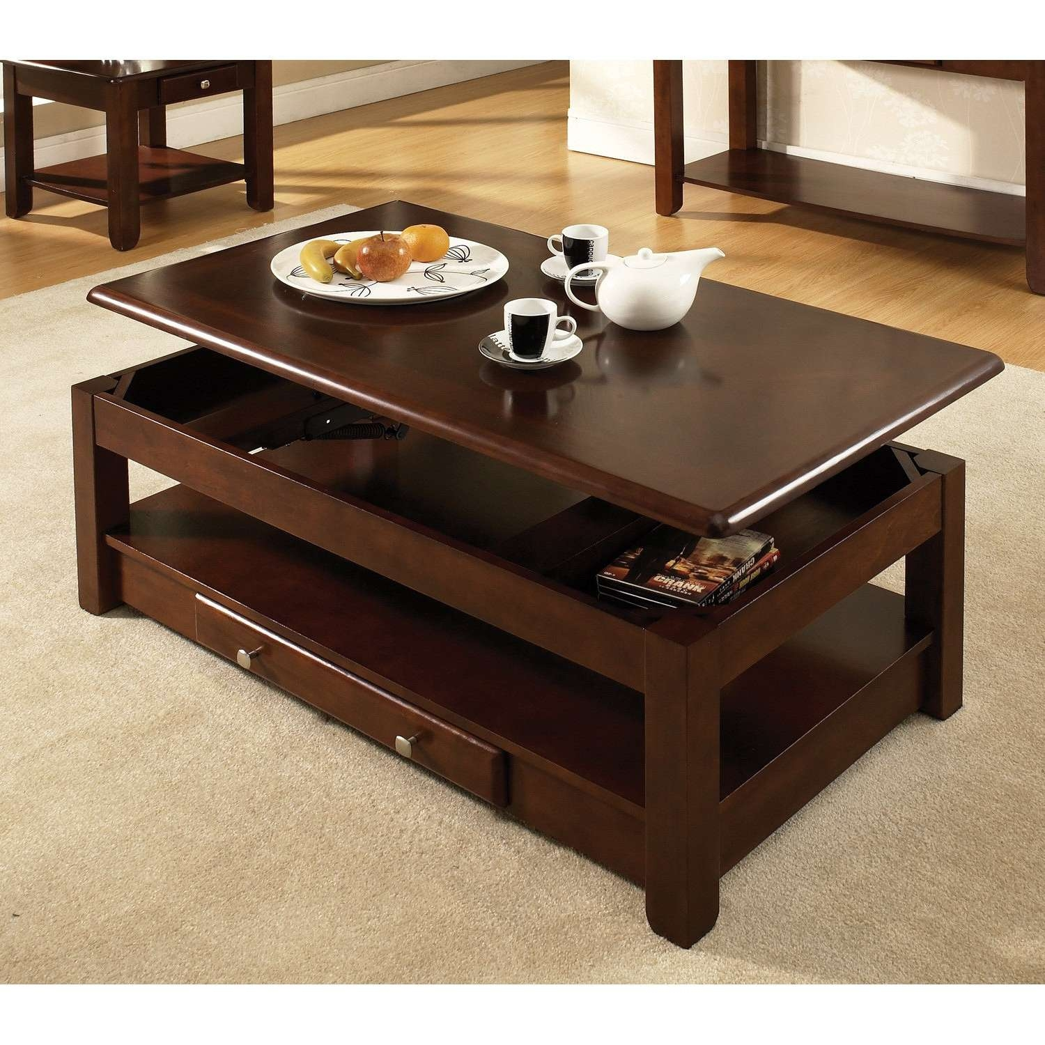 Favorite Square Dark Wood Coffee Table Intended For Square Dark Wood Coffee Table Luxury Coffee Tables Coffee Table (View 13 of 20)