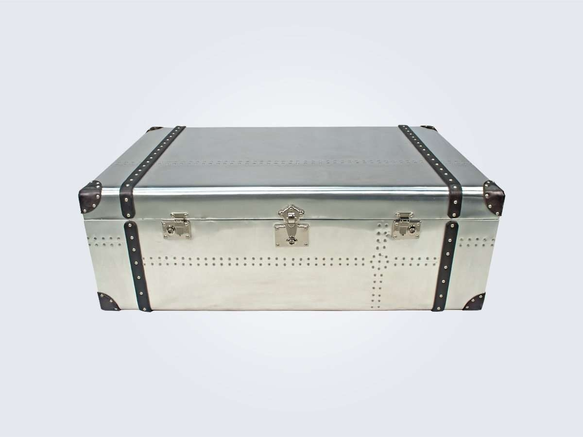 Favorite Tribeca Coffee Tables Pertaining To Tribeca Industrial Coffee Table Trunk – Container Direct (View 7 of 20)