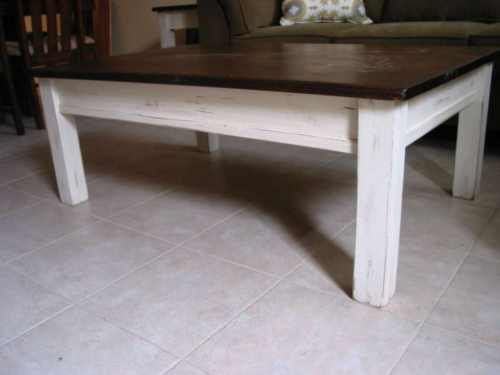 Favorite White Coffee Tables With Baskets With Coffee Table : Rustic Coffee Table White Farm House Furniture With (View 12 of 20)