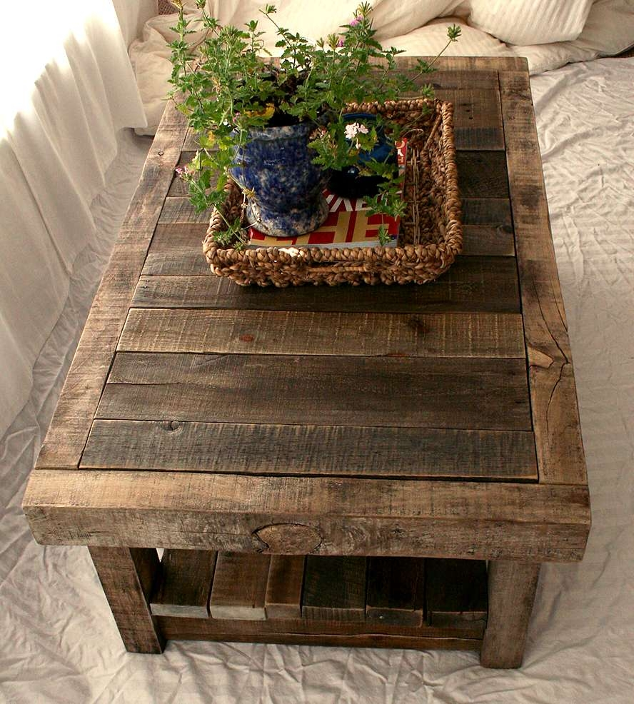 Features Reclaimed Wood Inside 2017 Rustic Barnwood Coffee Tables (View 4 of 20)