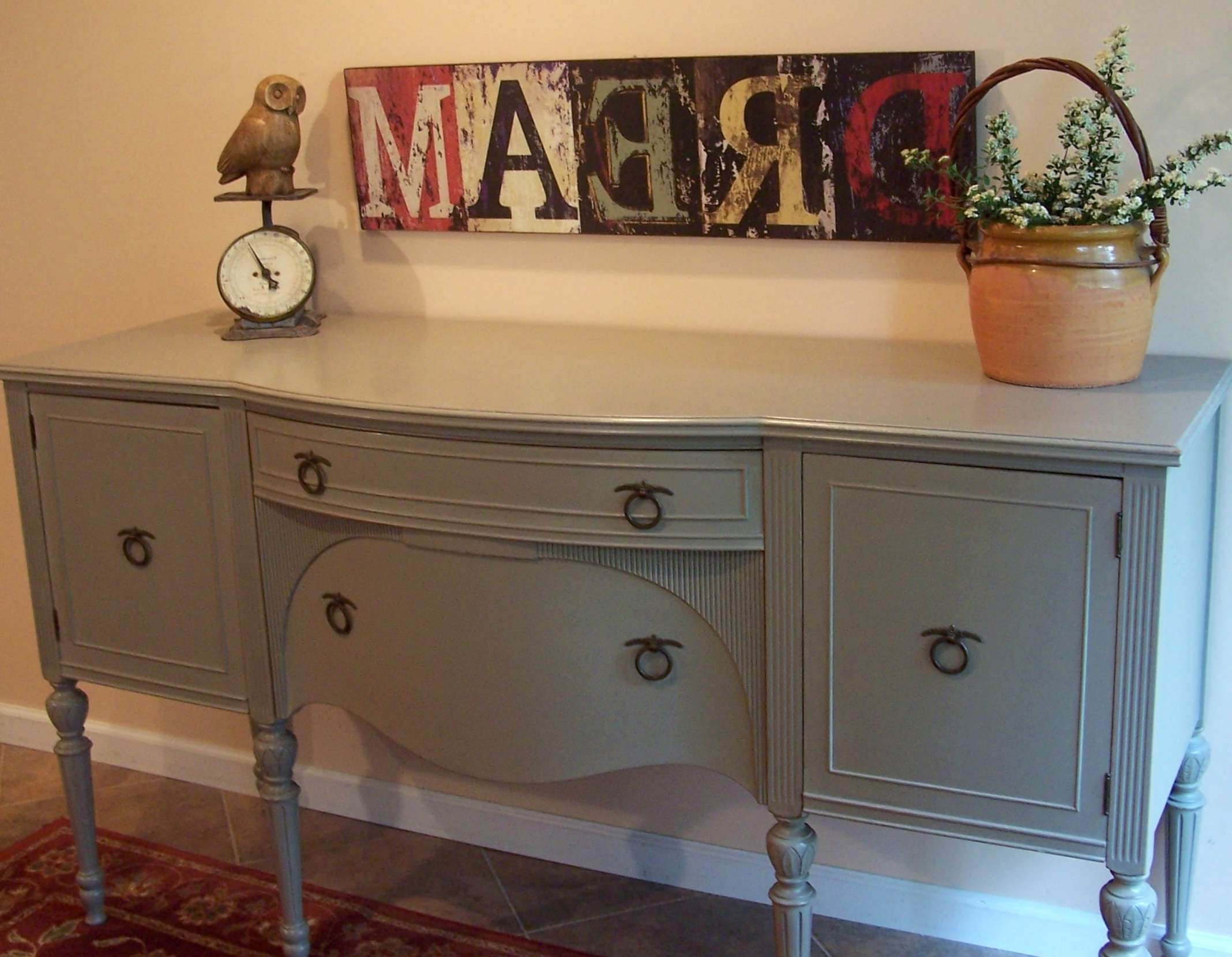 Federal Buffet In French Linen | Urban Farmhouse Finishes For Annie Sloan Painted Sideboards (View 5 of 20)