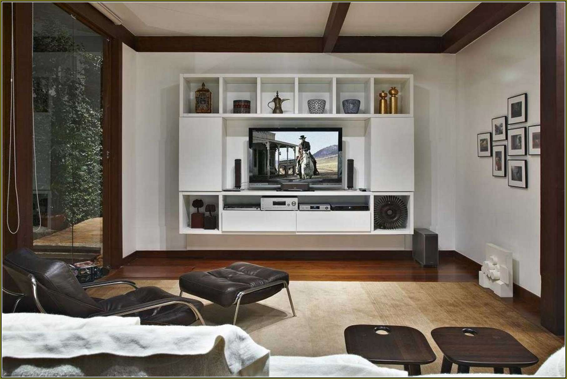 Flat Screen Tv Cabinet Ideas | Home Design Ideas Pertaining To Wall Mounted Tv Cabinets With Sliding Doors (View 5 of 20)