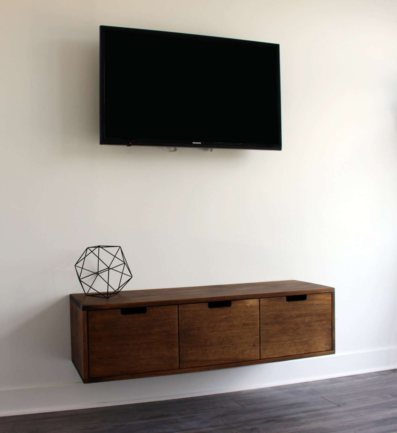 Floating Tv Console / Cabinet / Stand That Can Be Used Also Regarding Walnut Tv Cabinets With Doors (View 5 of 20)