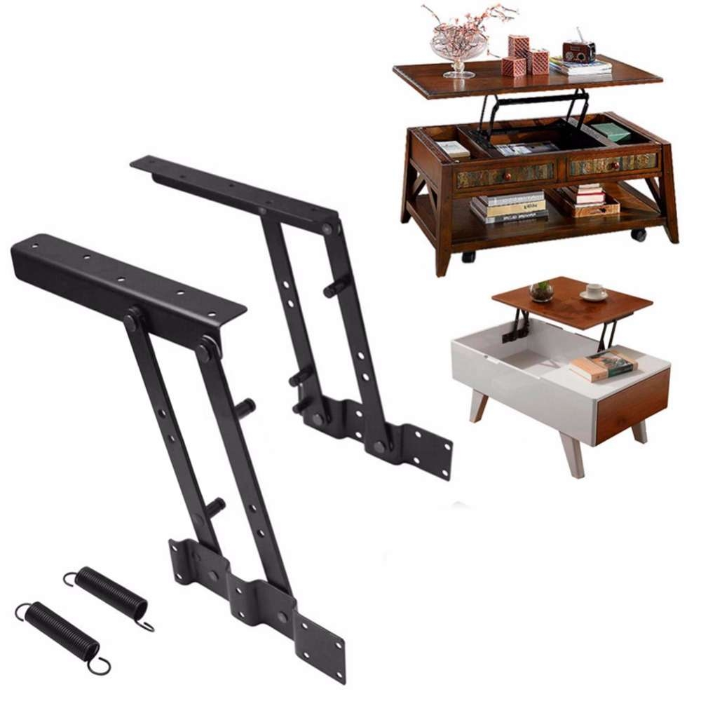Foldable Lift Up Top Coffee Table Lifting Frame Mechanism Spring Regarding Famous Lift Up Top Coffee Tables (View 12 of 20)