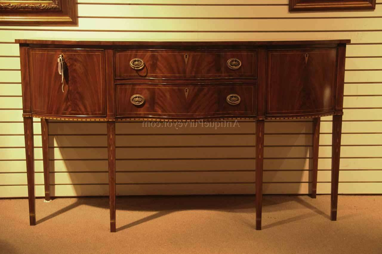 Formal Hepplewhite Style Mahogany Sideboard For The Dining Room With Regard To Dining Room With Sideboards (View 20 of 20)