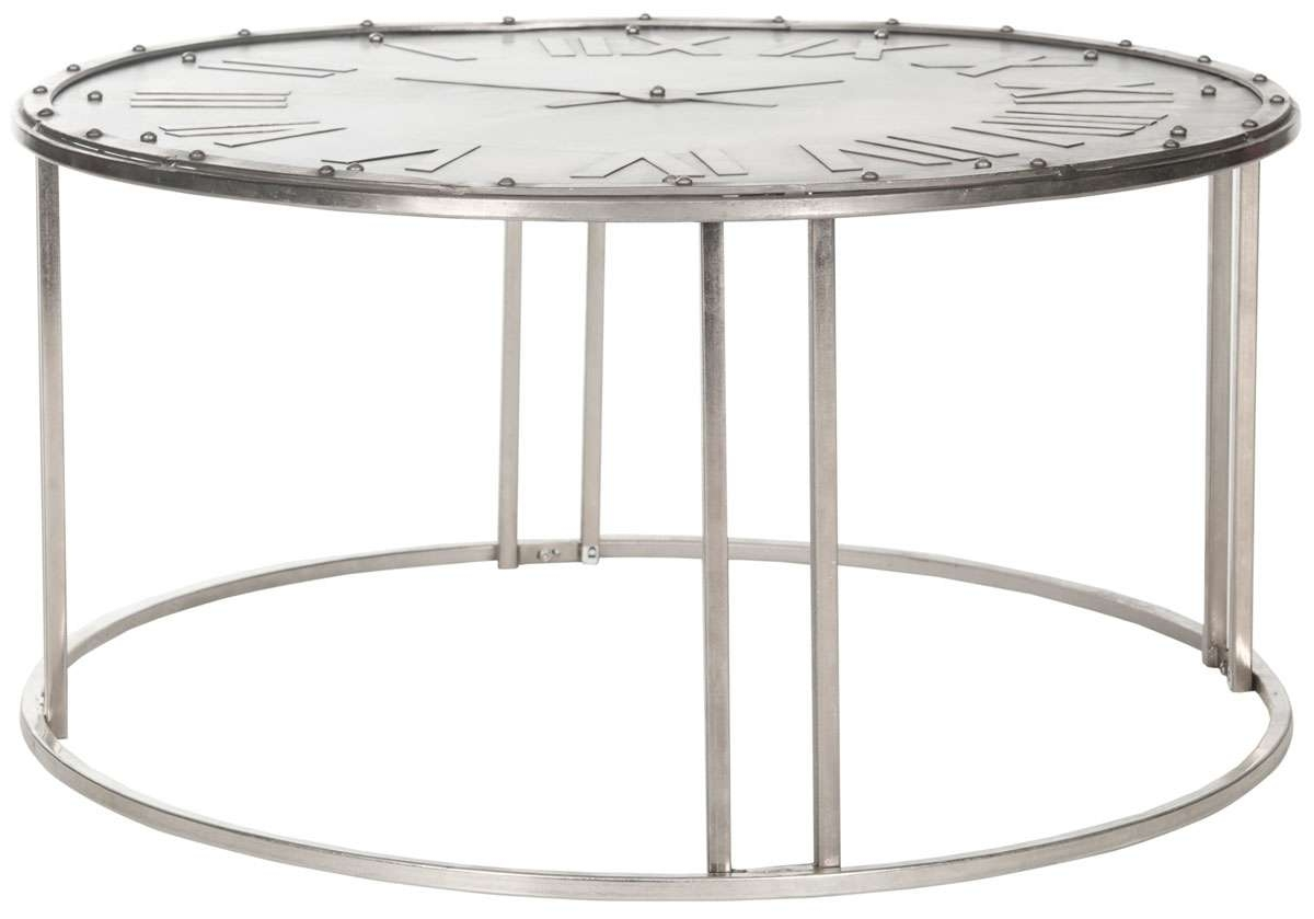Fox7203A Coffee Tables – Furnituresafavieh In Favorite Coffee Tables With Clock Top (View 16 of 20)
