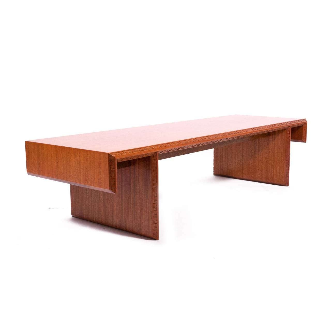 Frank Lloyd Wright Mahogany Coffee Table Or Bench At 1Stdibs With Famous Mahogany Coffee Tables (View 15 of 20)
