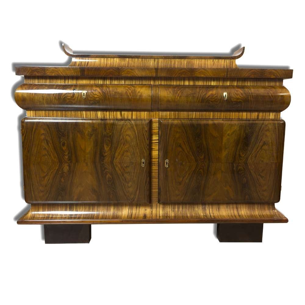 French Art Deco Oak & Walnut Sideboard, 1930s For Sale At Pamono Pertaining To Walnut Sideboards (View 15 of 20)