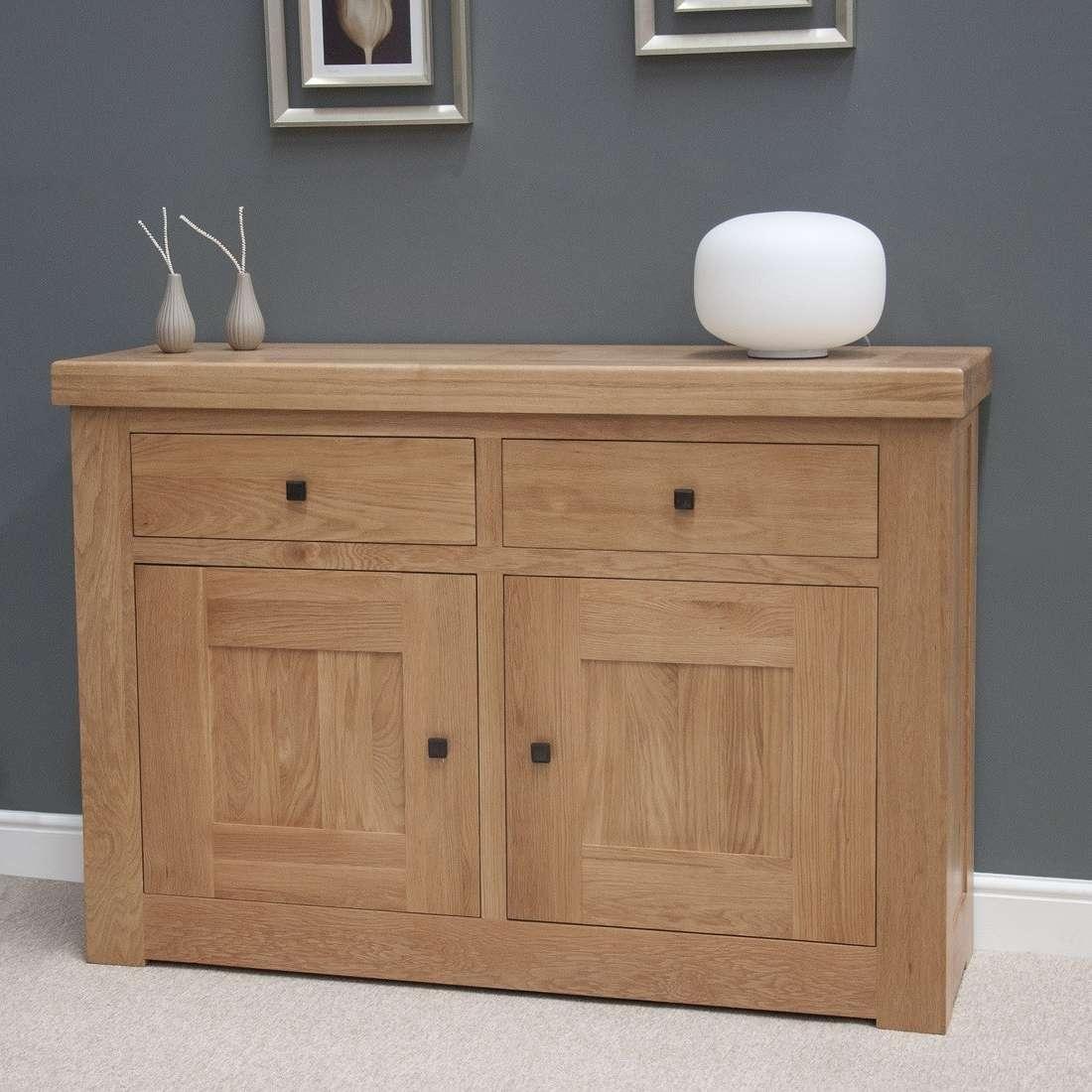 French Bordeaux Oak Small 2 Door Sideboard | Oak Furniture Uk Inside 2 Door Sideboards (View 8 of 20)
