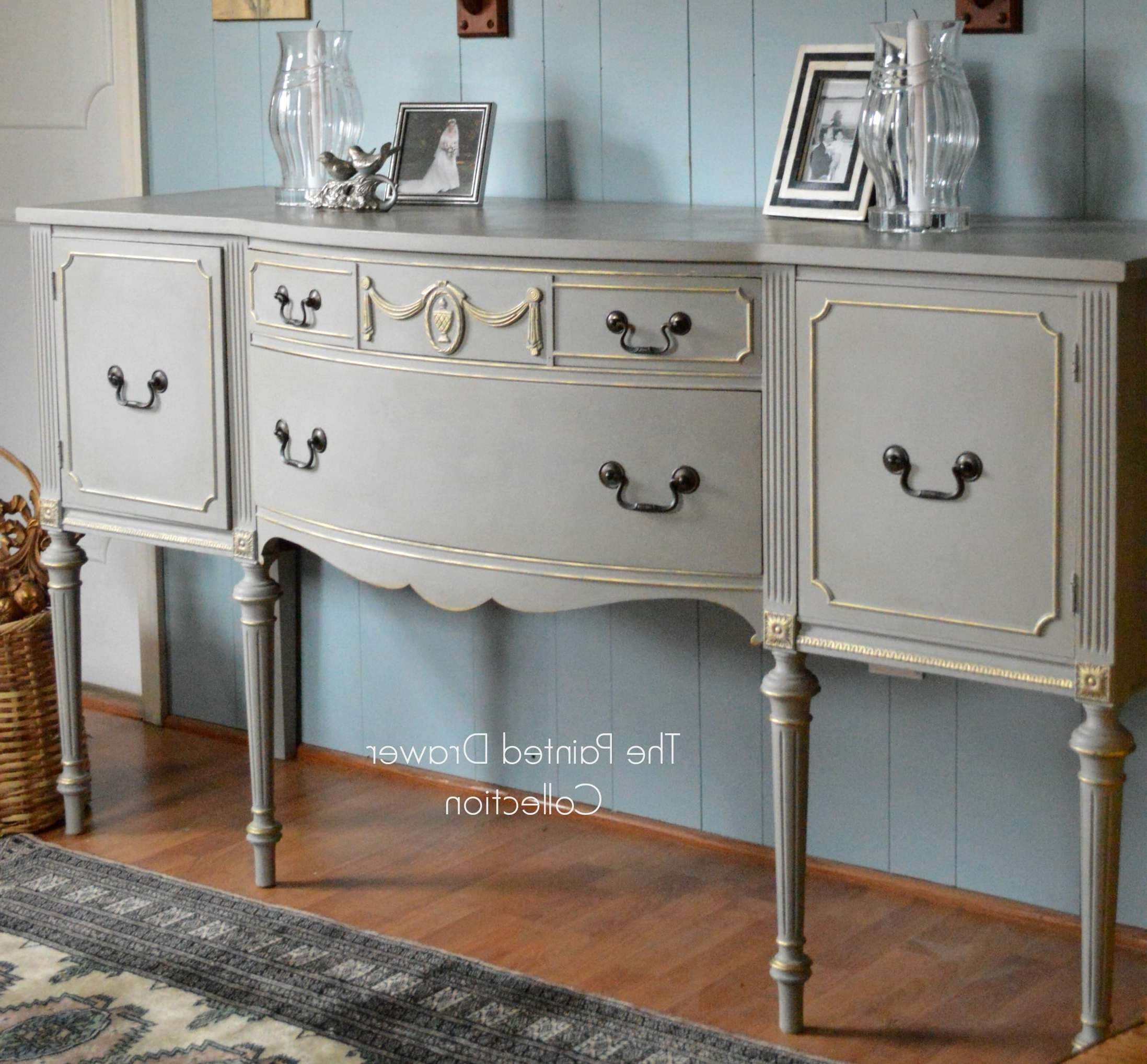 French Linen And Gold Sideboard Transformation – Before And After – Throughout Annie Sloan Painted Sideboards (View 4 of 20)