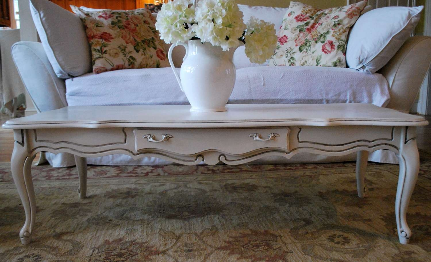 French Provincial Coffee Table U2013 Writehookstudio Inside Current White  French Coffee Tables (Gallery 6 Of