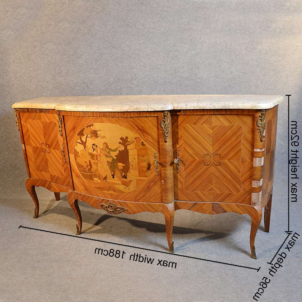 French Sideboard Dresser Art Deco Marble Top – Antiques Atlas Regarding Antique Marble Top Sideboards (View 9 of 20)