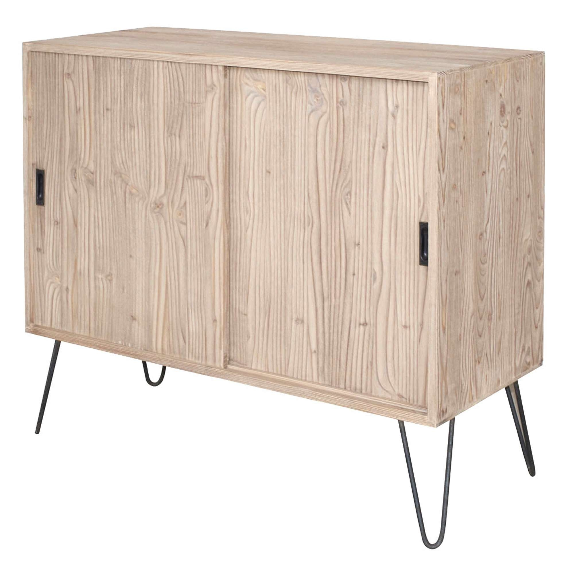 French Sliding Door Sideboard With Metal Legs Within Metal Sideboards (View 9 of 20)