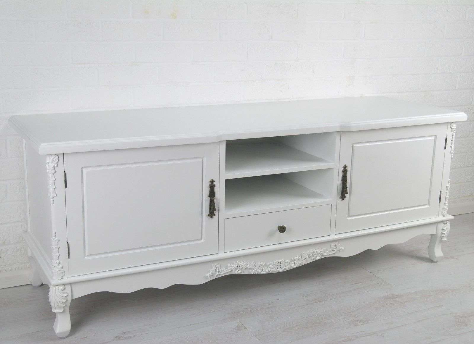 French Style White Large Cabinet Tv Unit Furniture – La Maison With Regard To French Tv Cabinets (View 20 of 20)
