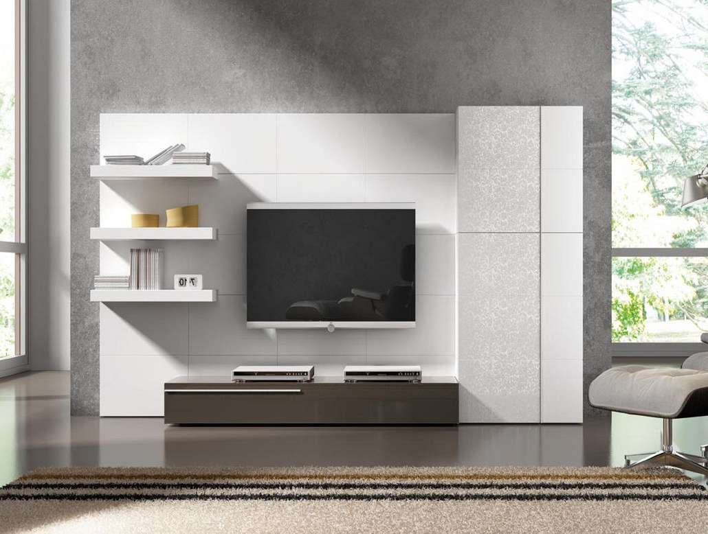 2019 Latest Full Wall Tv Cabinets