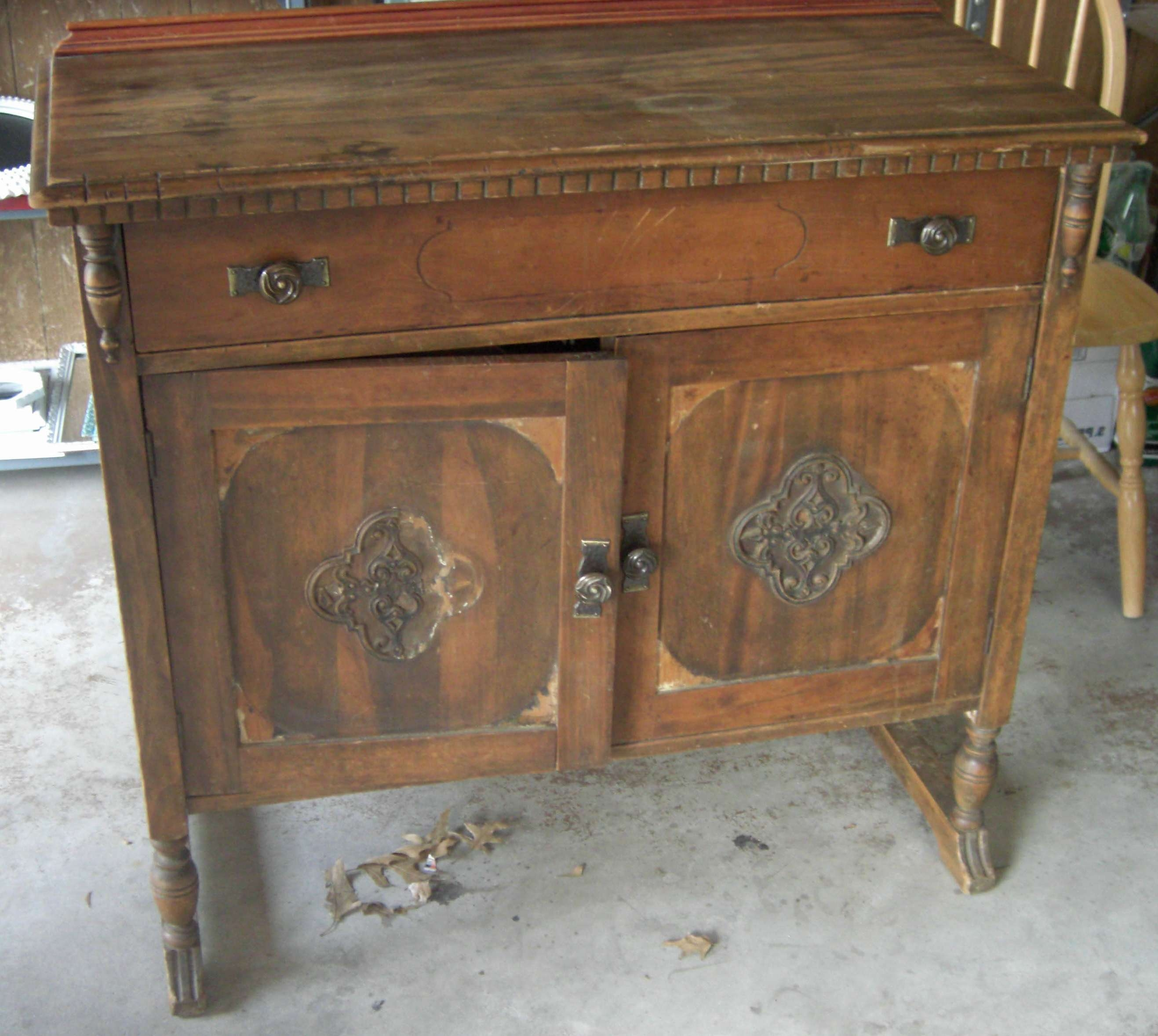Furniture: Antique Buffet Sideboard With Simple Amerock And With Antique Buffet Sideboards (View 14 of 20)