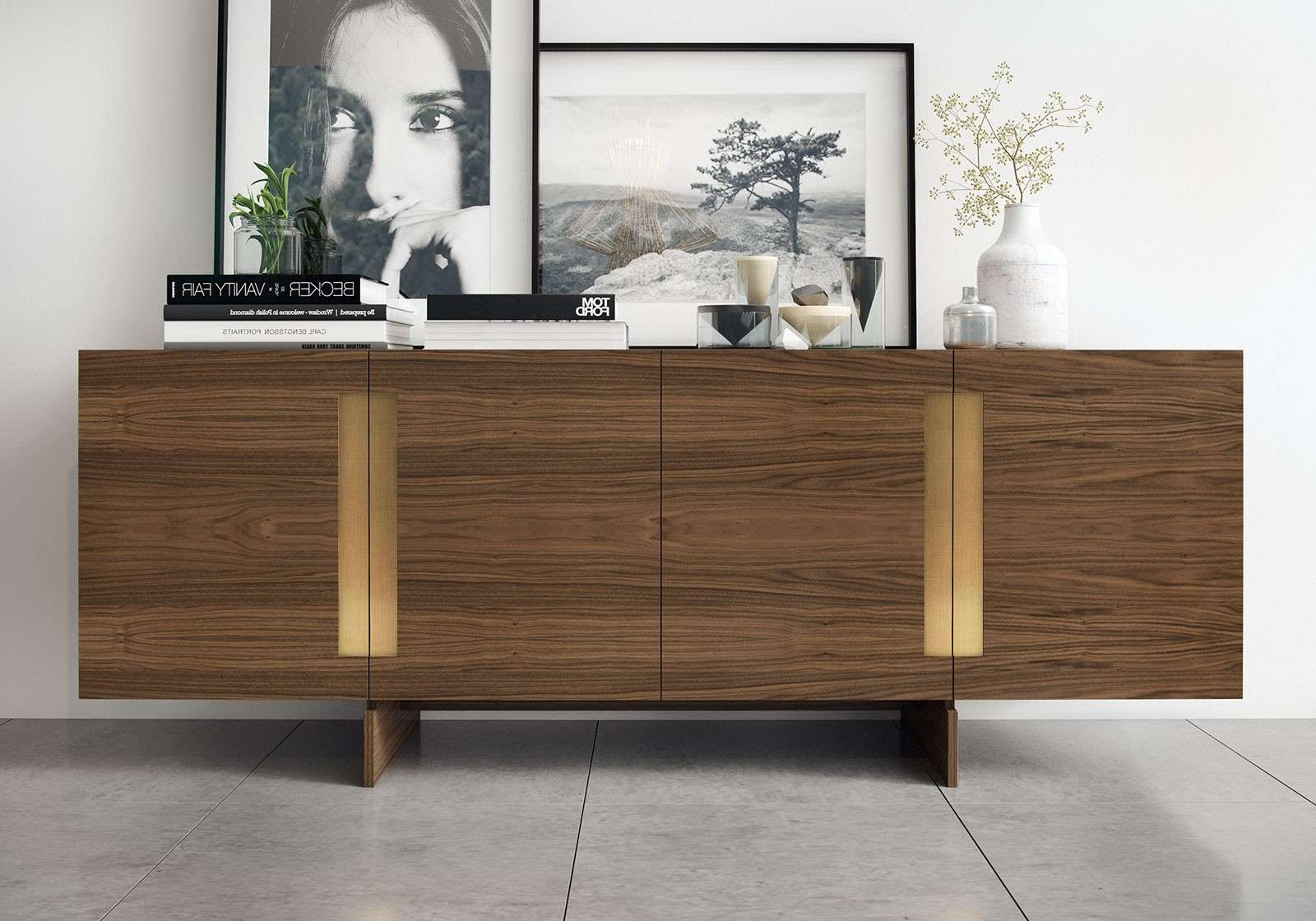 Furniture: Beautiful Profile Modern Sideboard For Living Room In Contemporary Sideboards And Buffets (View 10 of 20)