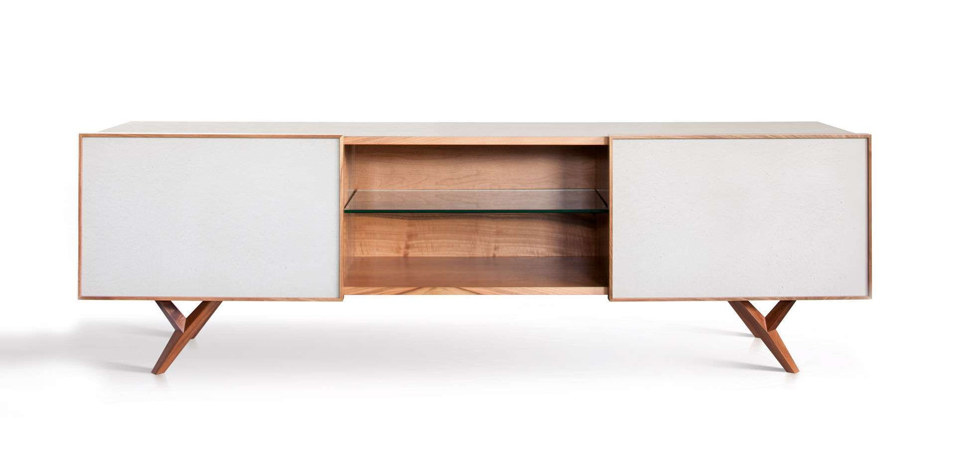 Furniture: Beautiful Profile Modern Sideboard For Living Room Inside White Modern Sideboards (View 9 of 20)