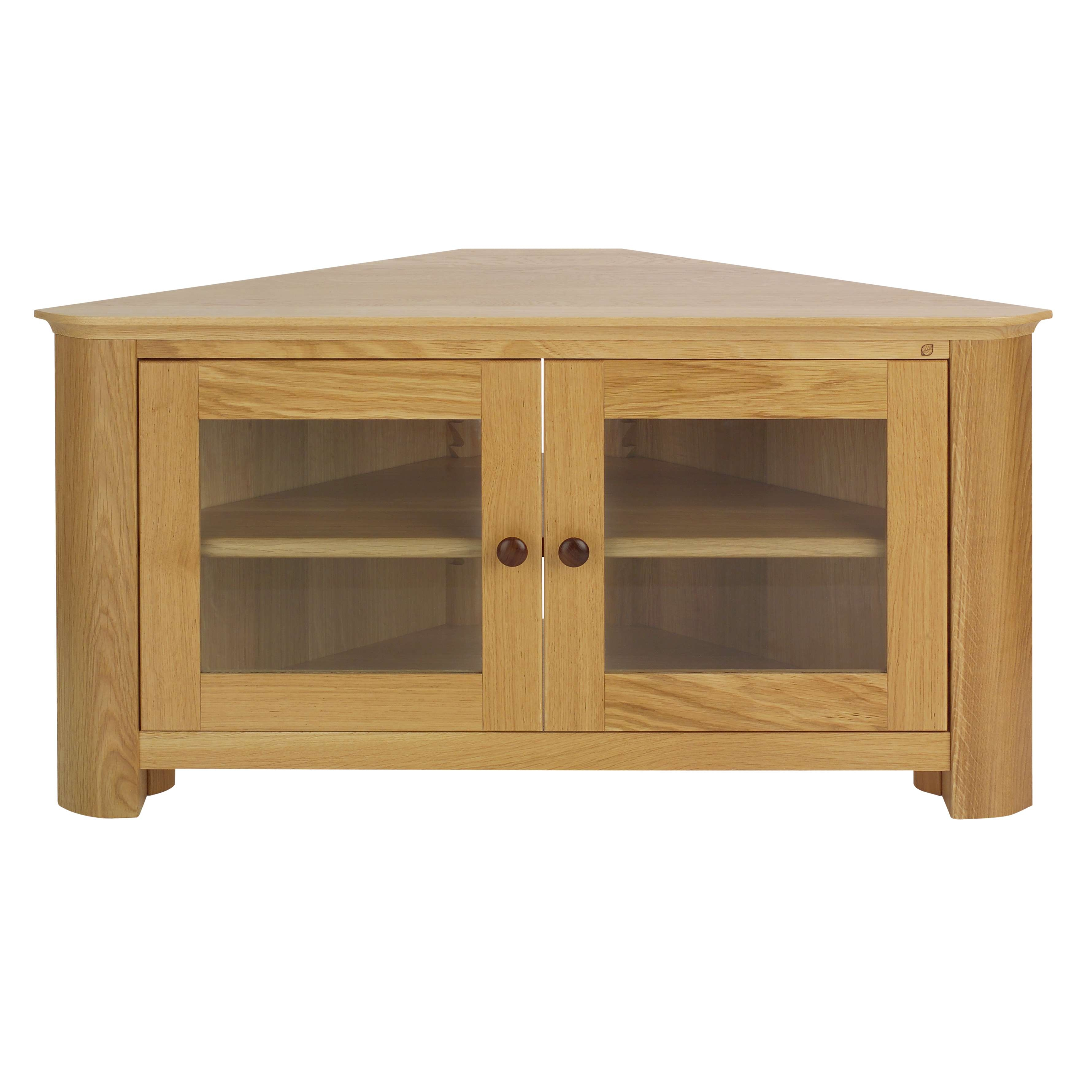 Featured Photo of Corner Tv Cabinets With Glass Doors