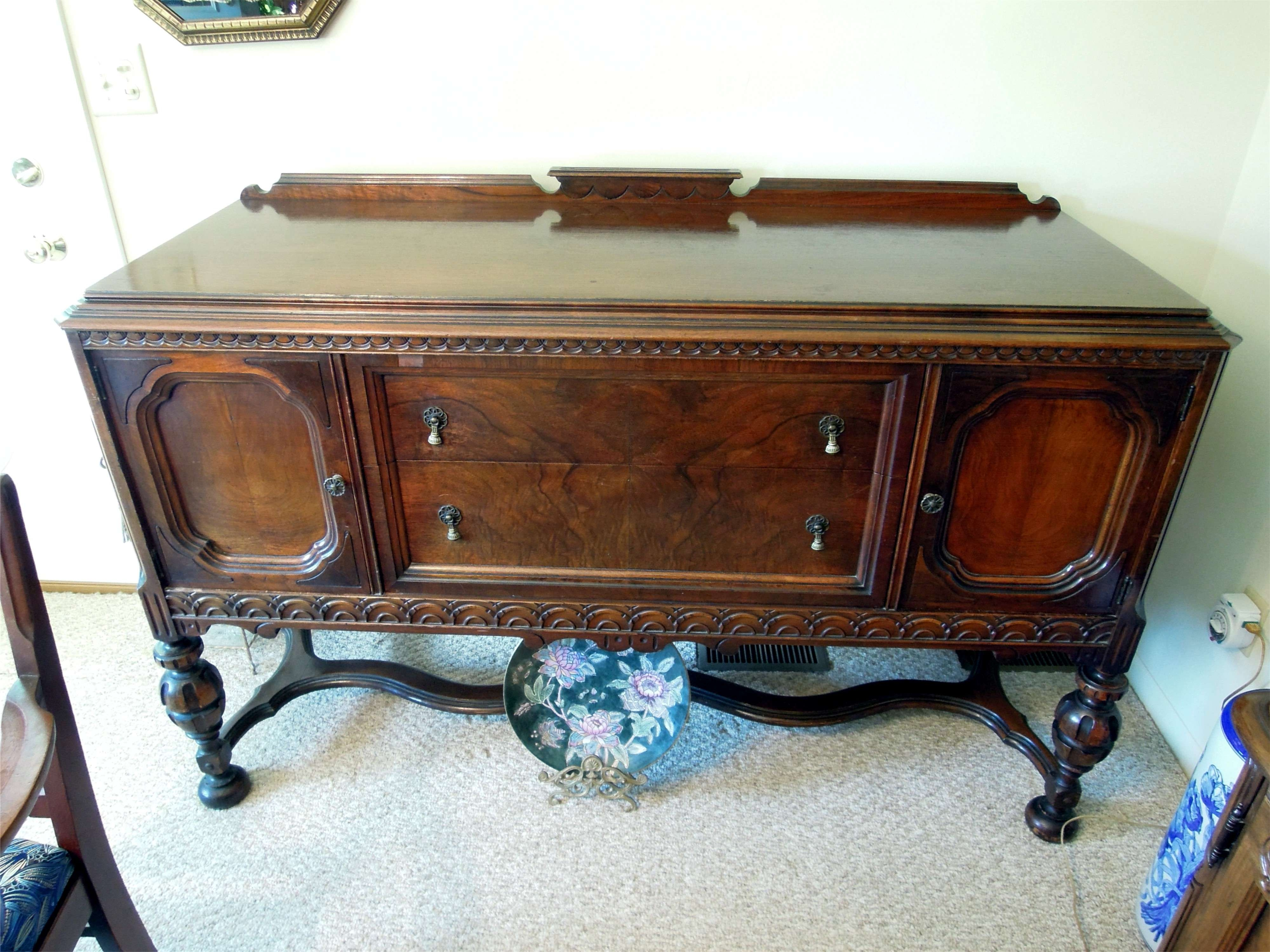 Furniture: Cozy Fabrica Carpet With Antique Buffet Sideboard For With Antique Sideboards Buffets (View 15 of 20)