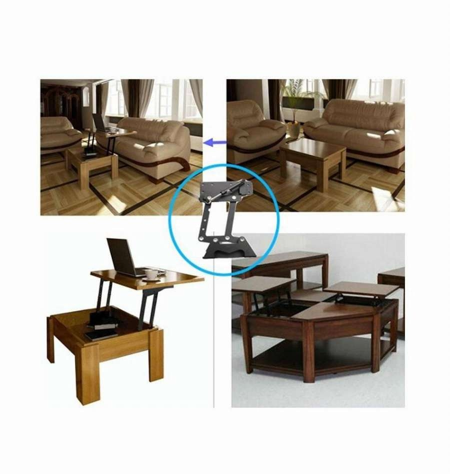 Furniture Design Hydraulic Table Lifting Mechanism,spring Assist In Newest Swing Up Coffee Tables (View 7 of 20)