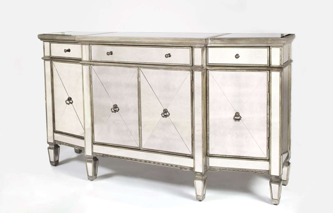 Furniture: Exciting Mirrored Buffet For Bedroom Design Ideas With For Mirrored Buffet Sideboards (View 13 of 20)