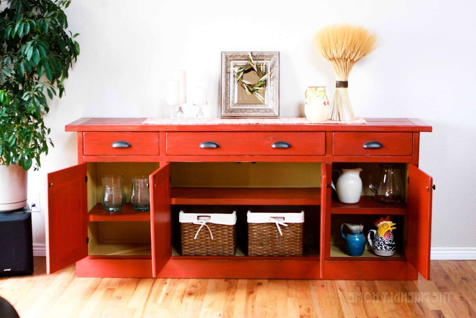 Furniture: Fashionable Stylish Buffets And Sideboards For Home In Red Buffet Sideboards (View 6 of 20)