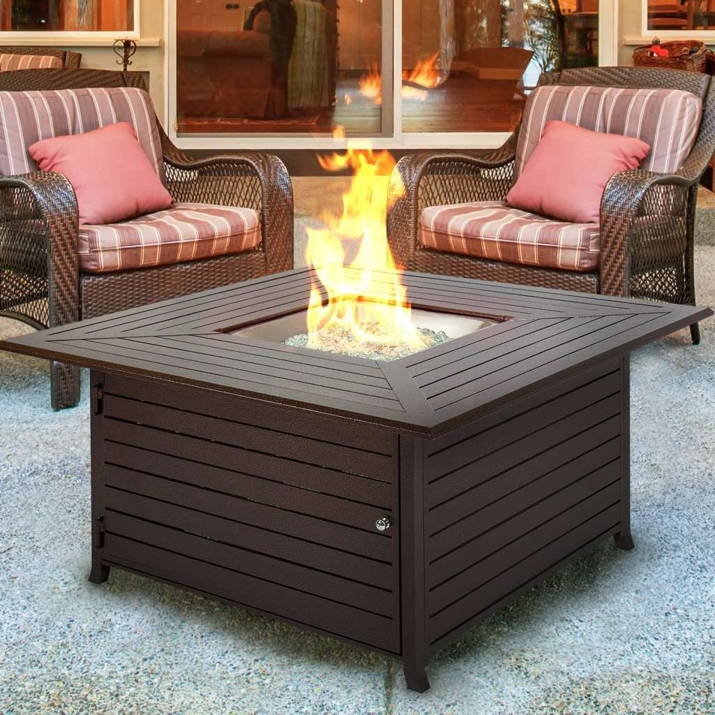 Furniture: Fire Pit Table Lovely Top Ten Best Gas Fire Pit Tables Regarding Well Known Mands Coffee Tables (View 9 of 20)