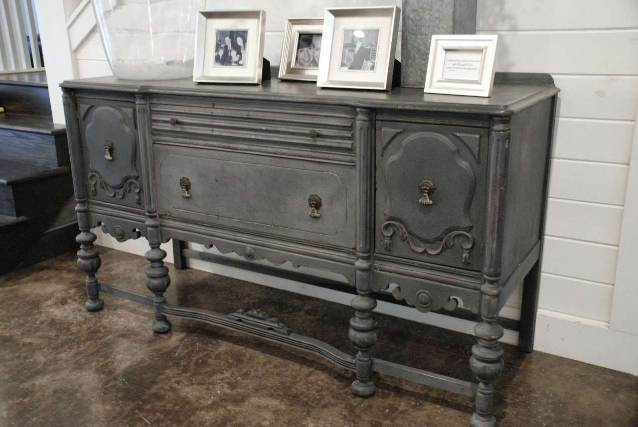 Furniture: Interesting Buffets And Sideboards For Home Furniture Within Painted Sideboards And Buffets (View 7 of 20)