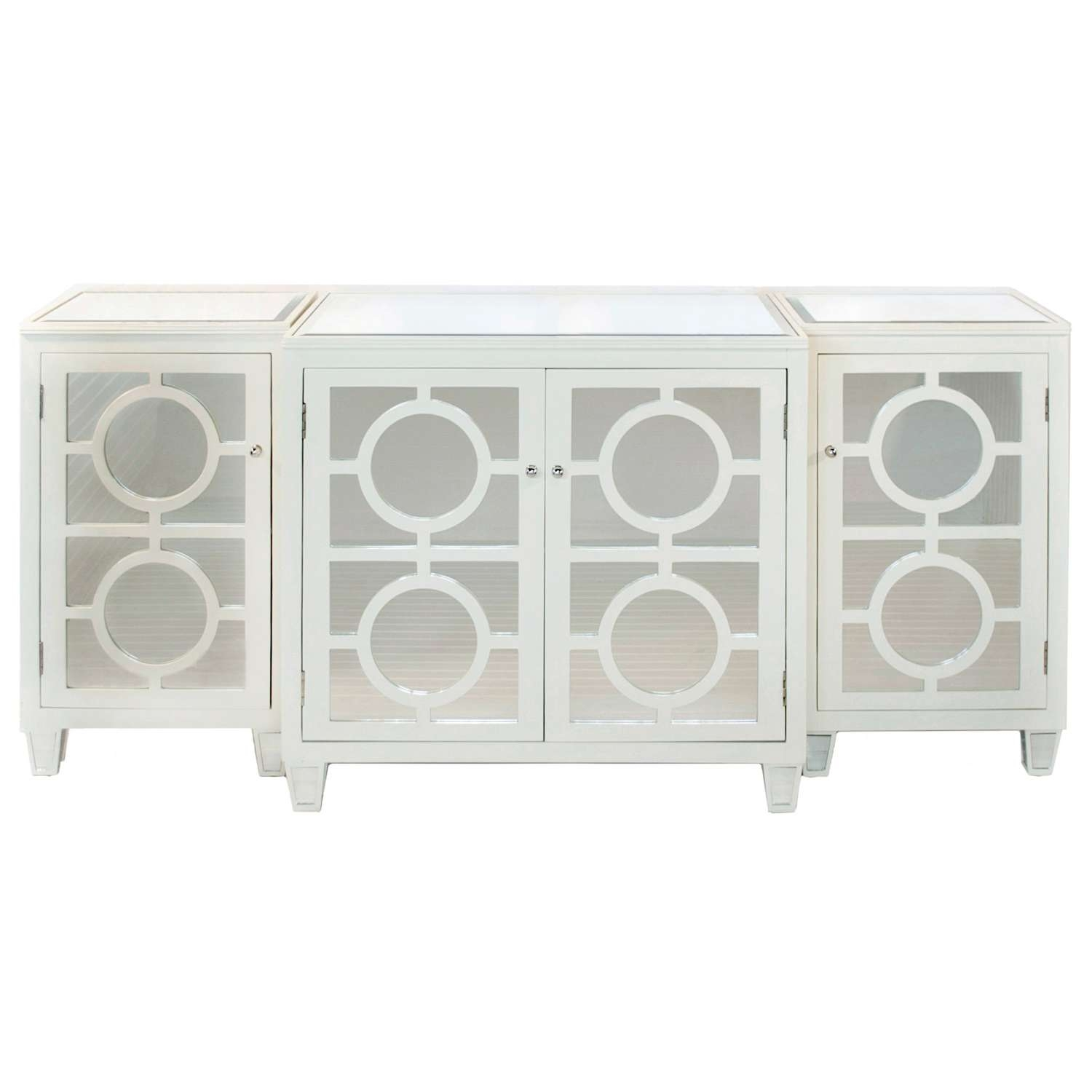 Furniture: Interesting White Sideboard Worlds Away Furniture For Throughout White Mirrored Sideboards (View 5 of 20)