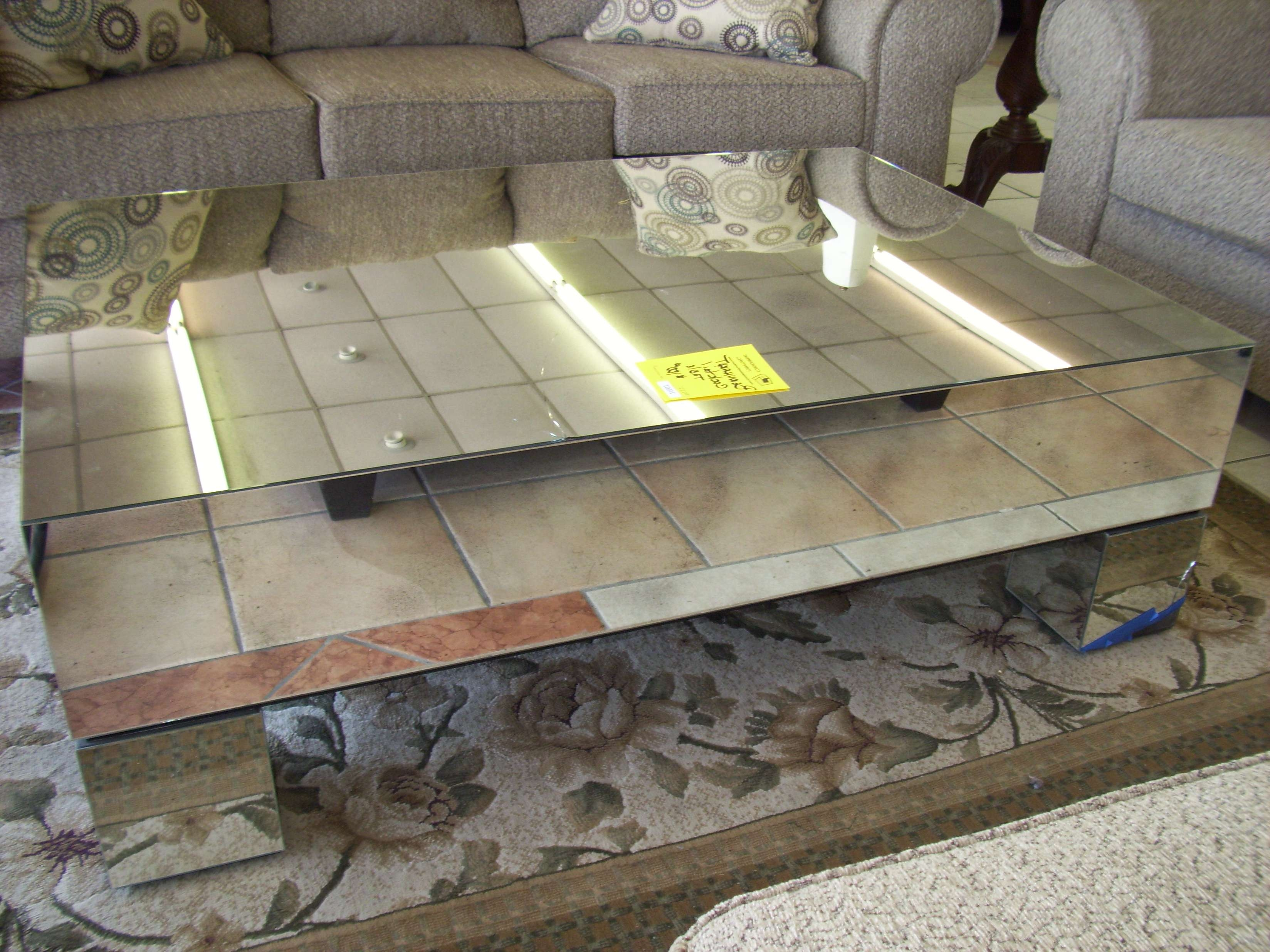 Furniture: Mesmerizing Mirrored Coffee Table For Your Living Room Within 2018 Round Mirrored Coffee Tables (View 5 of 20)