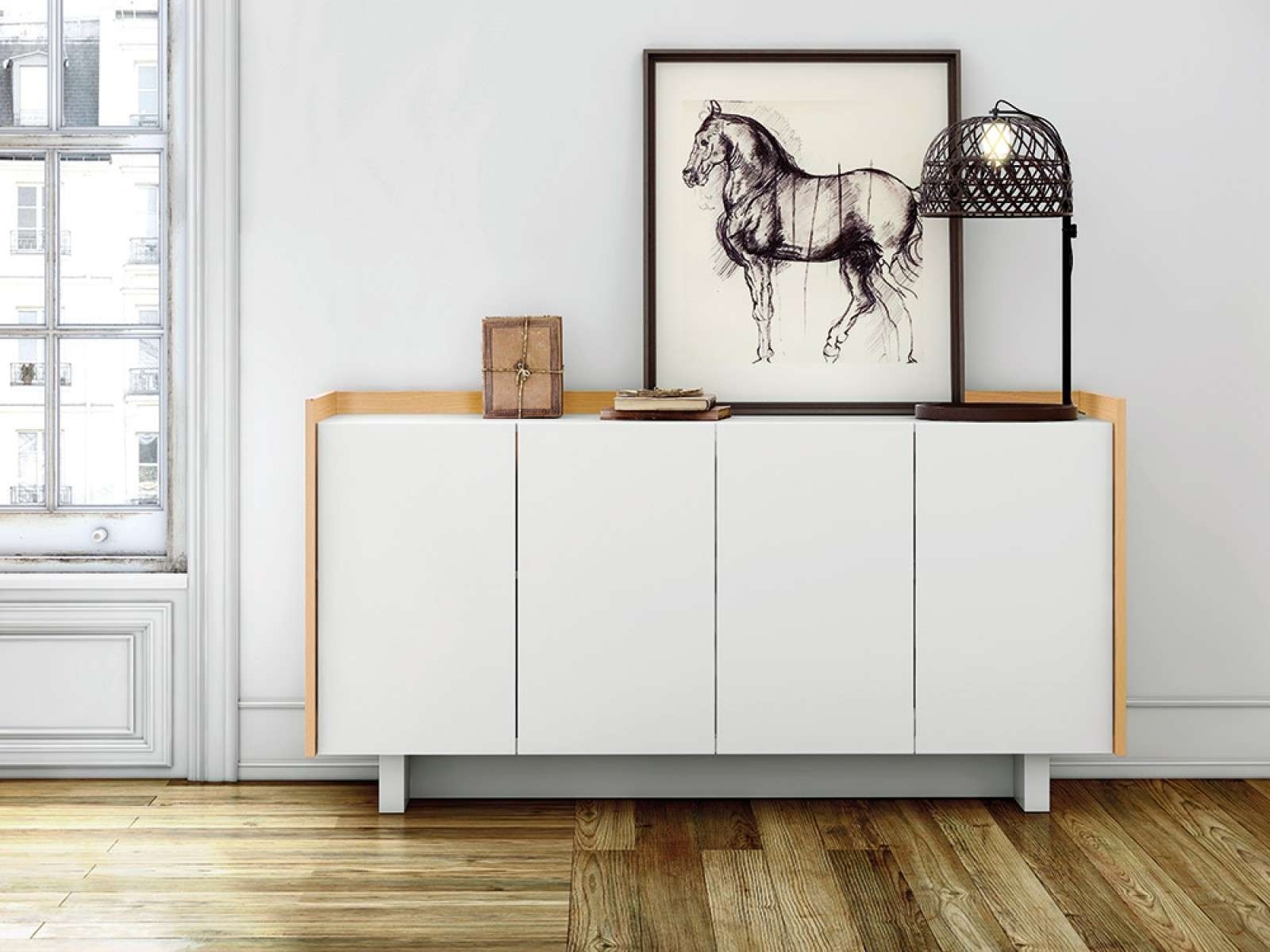 Furniture: Minimalist Modern Sideboard With Sideboard Buffet Table Regarding White Modern Sideboards (View 8 of 20)