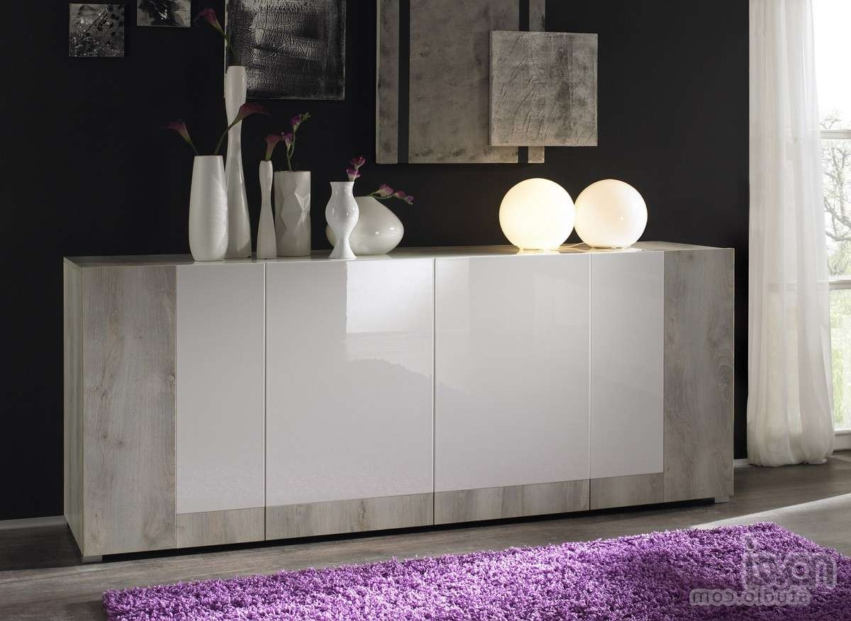Furniture: Minimalist Modern Sideboards With Glass Front Buffet Pertaining To Modern Buffet Sideboards (View 4 of 20)