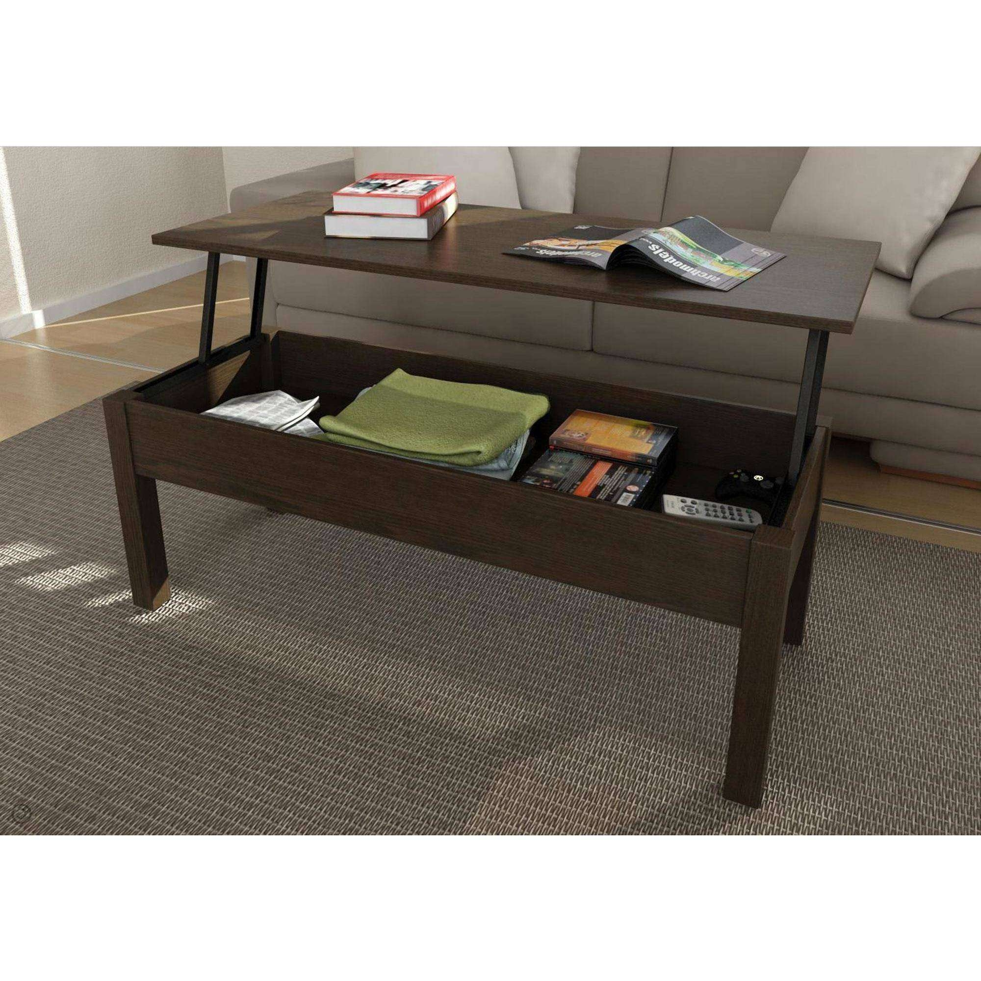 Furniture: Modern And Contemporary Design Of Espresso Coffee Table Pertaining To Most Current Coffee Tables With Shelf Underneath (View 20 of 20)