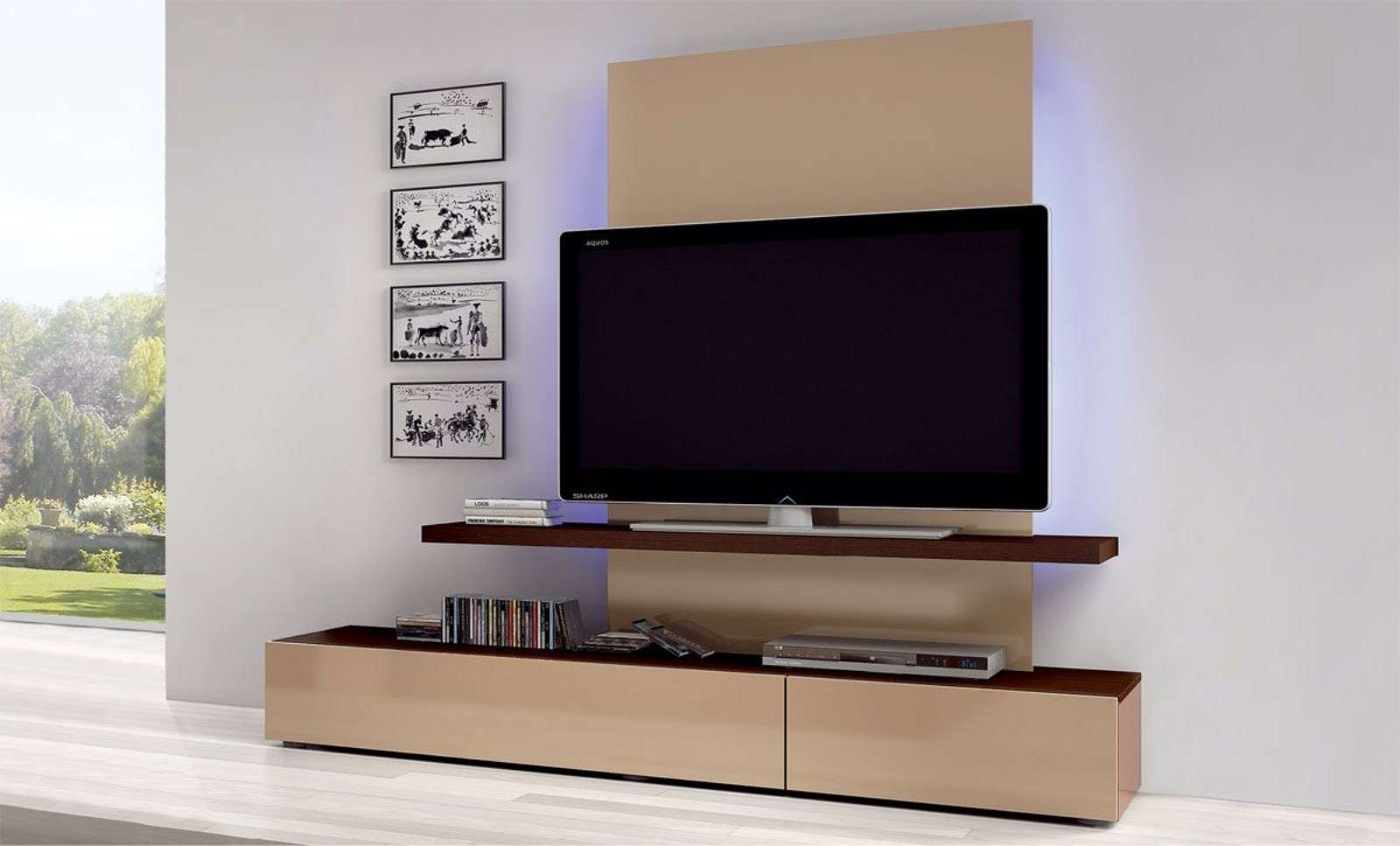 Furniture: Modern Flat Screen Tv0Lift Cabinet With Brown Pertaining To Contemporary Tv Cabinets For Flat Screens (View 12 of 20)