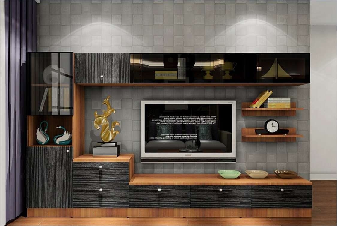 Furniture: Modern Flat Screen Tv0Lift Cabinet With Brown Regarding Modern Tv Cabinets For Flat Screens (View 6 of 20)
