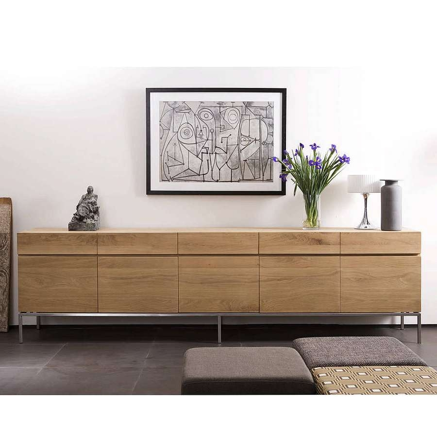Furniture: Modern Sideboard With Tall Buffet Cabinet Also With Modern Contemporary Sideboards (View 7 of 20)