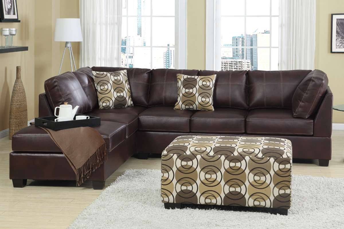 Furniture: Modern White Leather Sectional Sofa And White Coffee Within Trendy Coffee Table For Sectional Sofa (View 16 of 20)