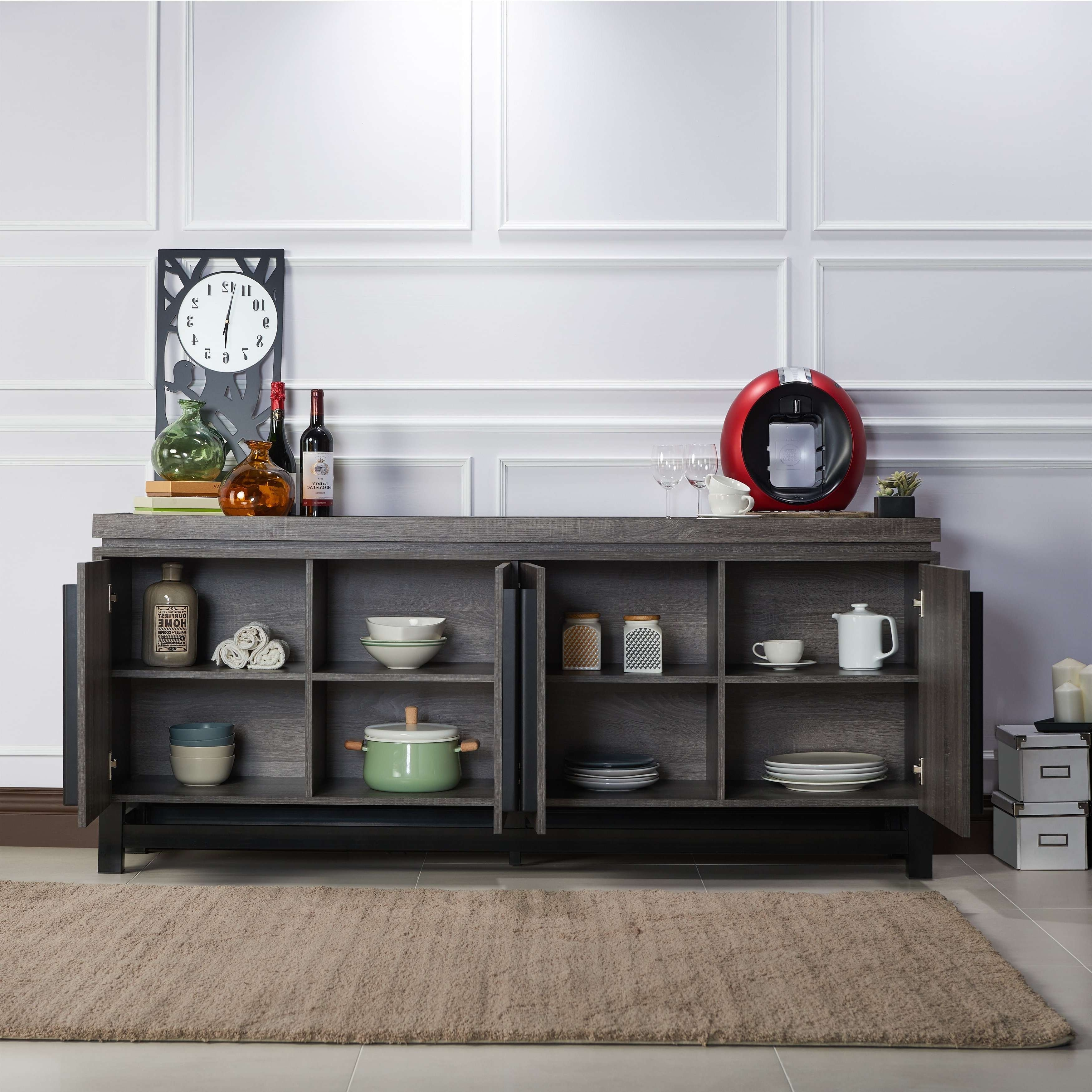 Furniture Of America Sonova Modern 70 Inch Buffet Cabinet – Free In 70 Inch Sideboards (View 19 of 20)
