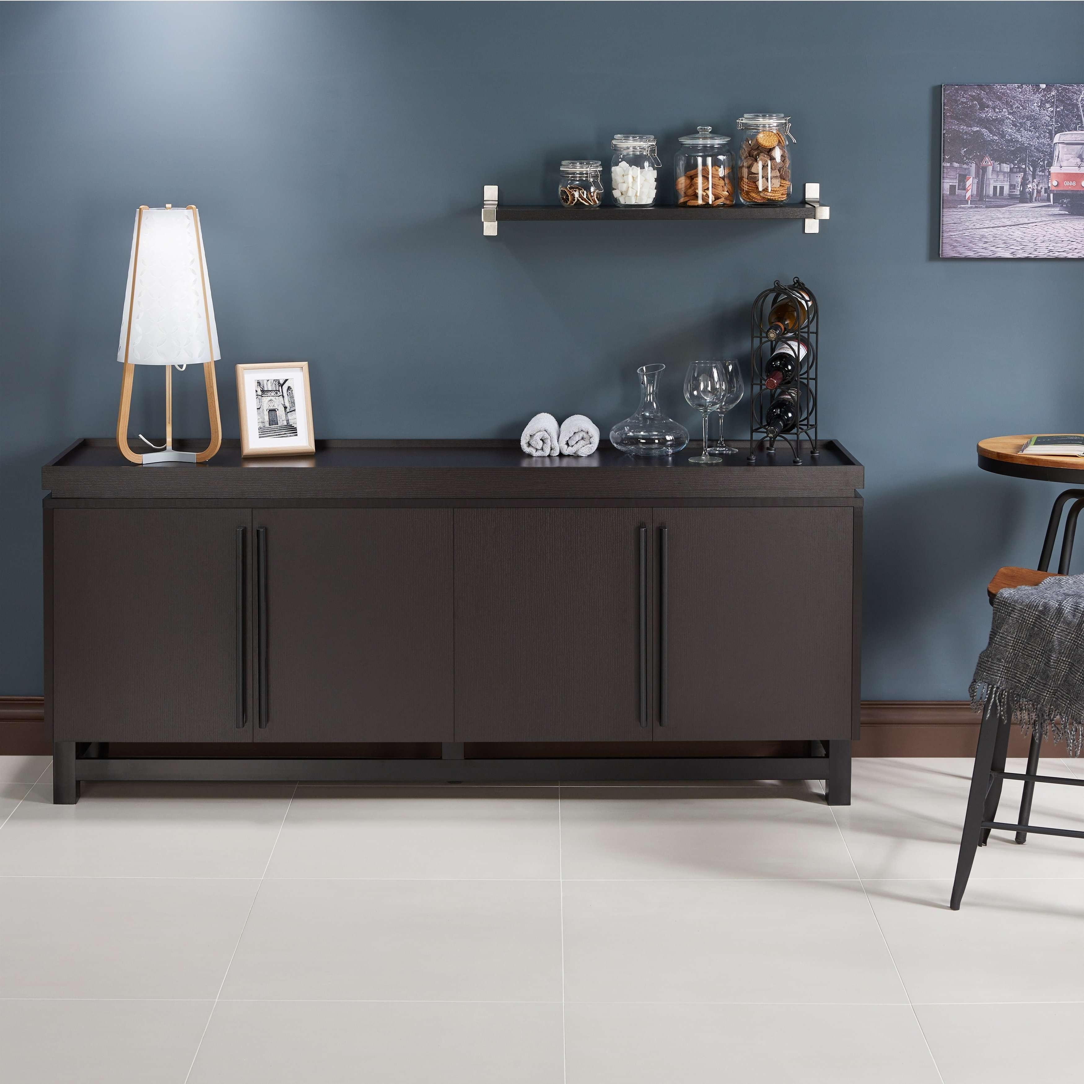 Furniture Of America Sonova Modern 70 Inch Buffet Cabinet – Free Intended For 70 Inch Sideboards (View 10 of 20)