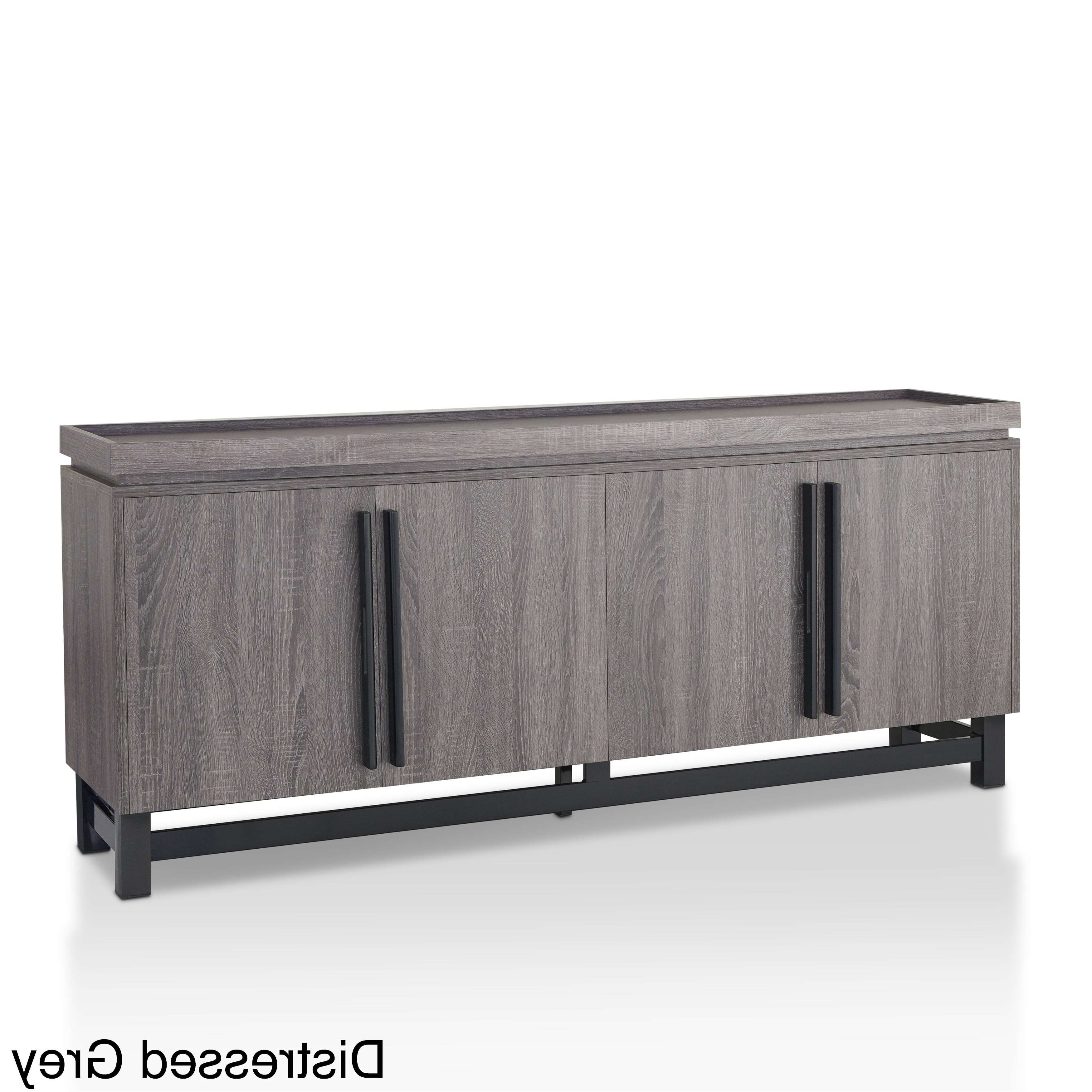 Furniture Of America Sonova Modern 70 Inch Buffet Cabinet – Free With 70 Inch Sideboards (View 13 of 20)