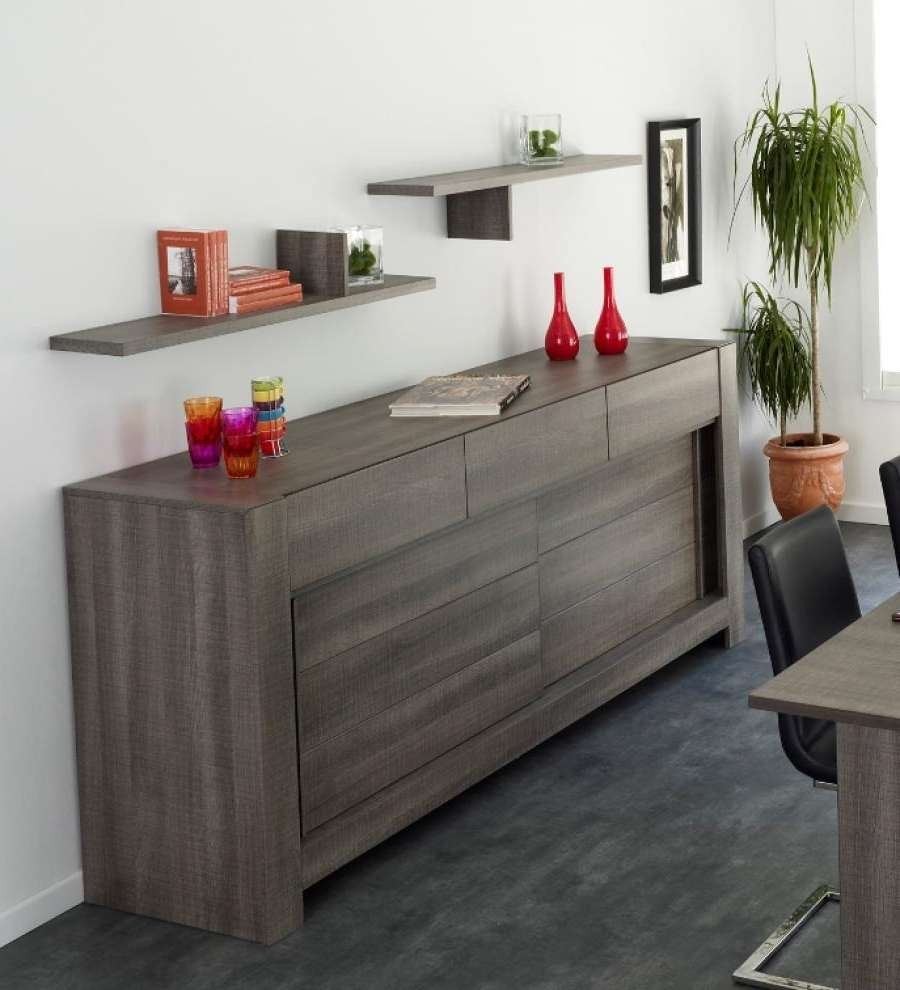 Furniture: Plain White Wall Paint Color Background With Modern Within Black Brown Sideboards (View 16 of 20)