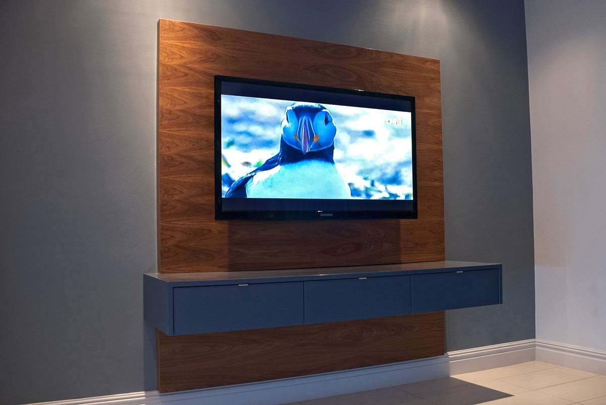Furniture: Remarkable Floating Tv Stand For Home Furniture Ideas Within Floating Tv Cabinets (View 9 of 20)