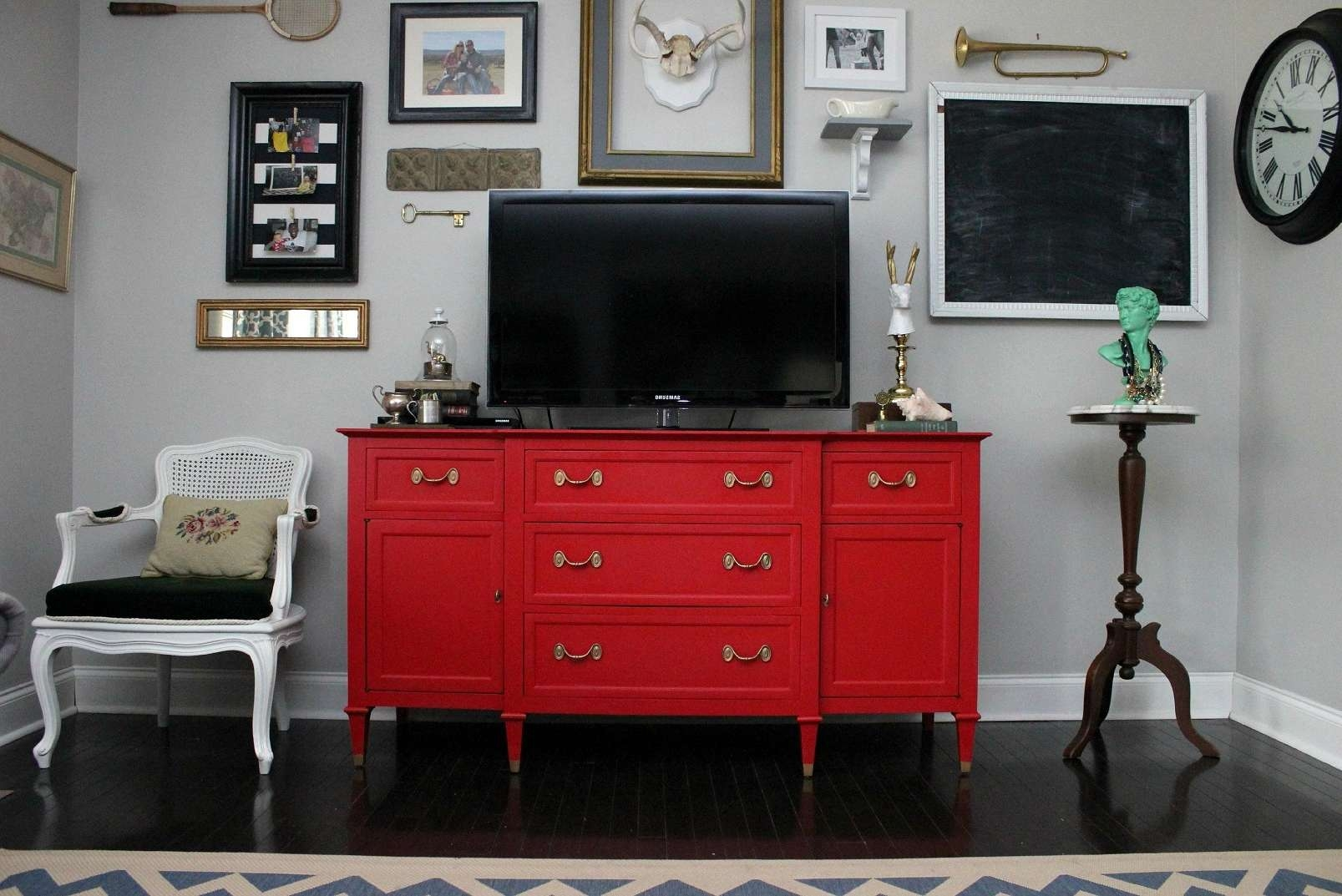 Furniture: Stunning Floating Tv Stand For Home Furniture Ideas Within Red Tv Cabinets (View 2 of 20)