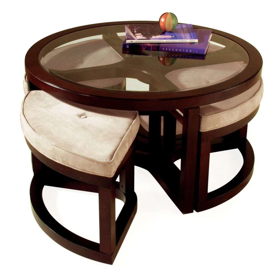 Furniture : Unique Small Round Coffee Tables With Storages For Regarding Popular Small Circular Coffee Table (View 9 of 20)