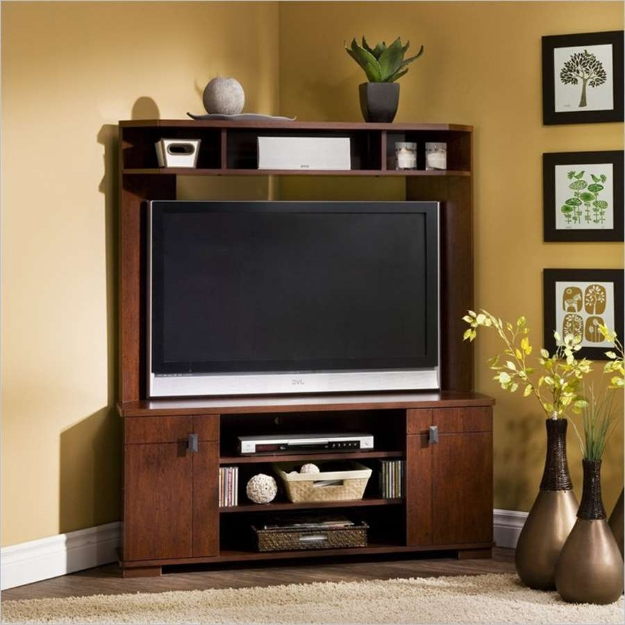 Furnitures: Sauder Tv Stand | Tv Stand Entertainment Console With With Regard To Corner Tv Cabinets With Hutch (View 11 of 20)