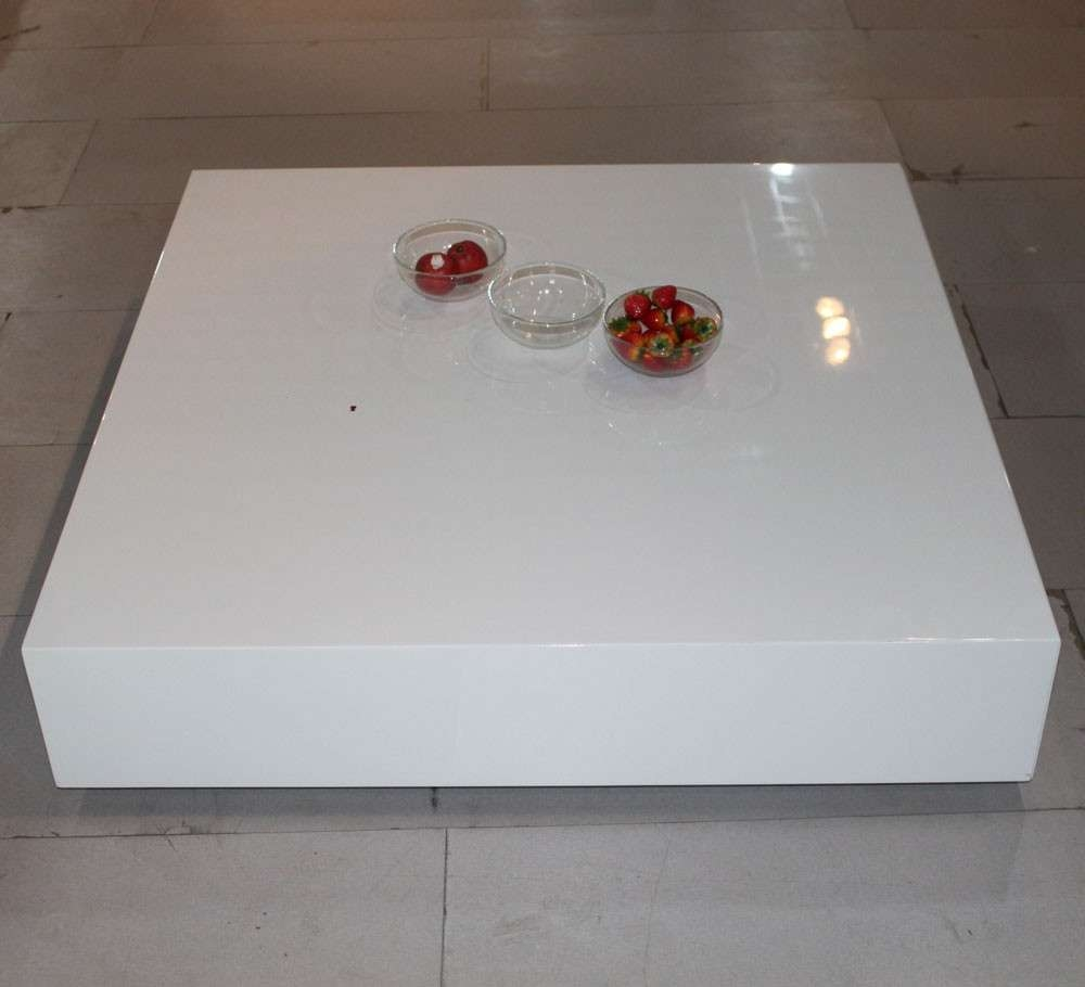 Futuristic White Lacquer Coffee Table – Room And Board, White In Favorite Lacquer Coffee Tables (View 7 of 20)
