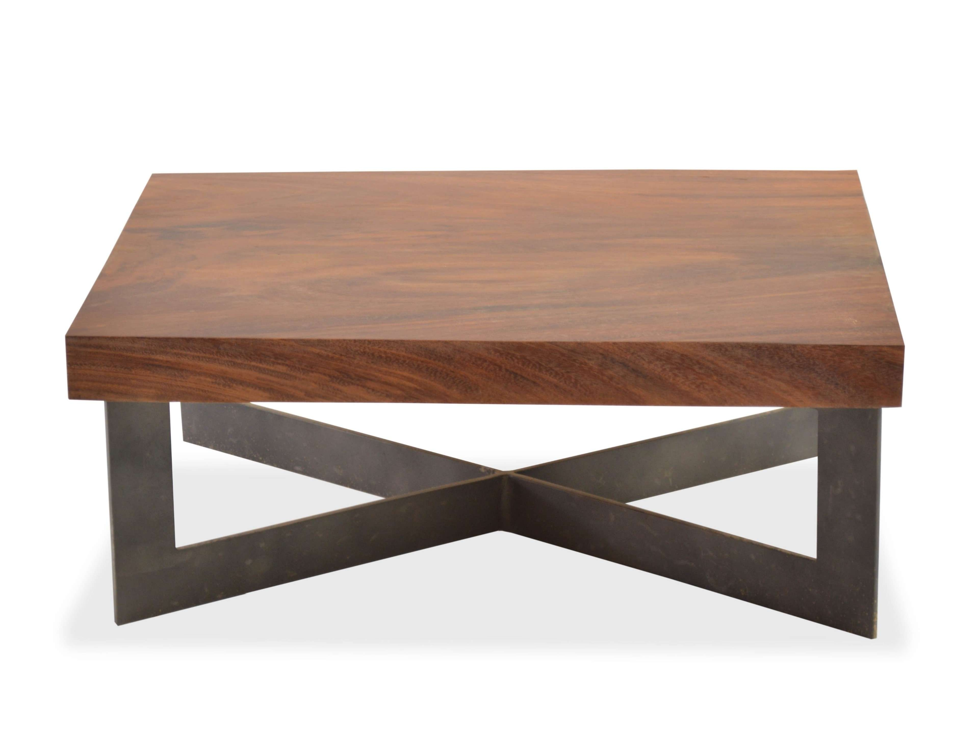 Garage Rustic Solid Wooden Chunky Tv Stand Wood Coffee Table Side For Recent Coffee Tables Solid Wood (View 10 of 20)