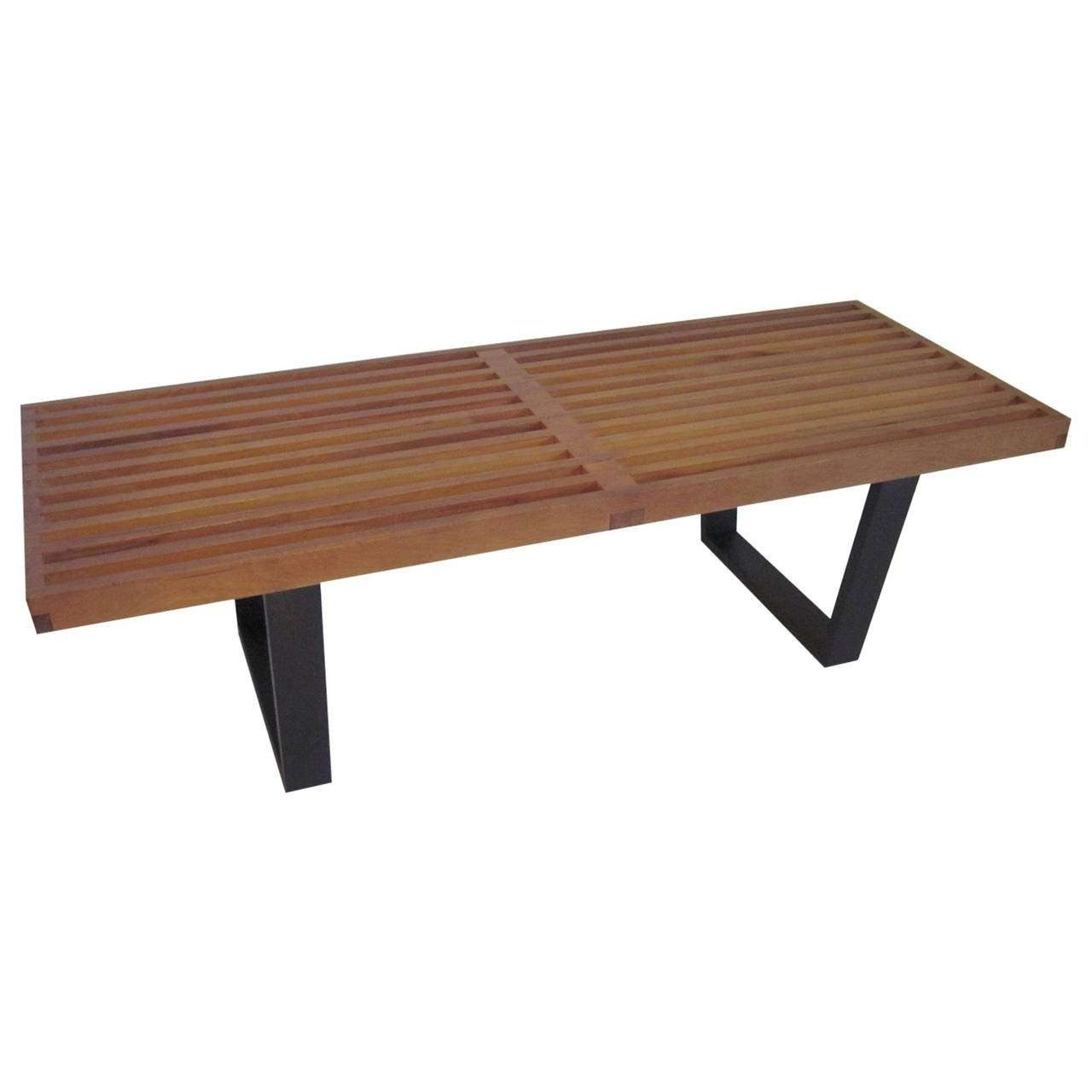 George Nelson Slat Bench Or Coffee Table At 1stdibs For Fashionable Nelson Coffee Tables (View 2 of 20)