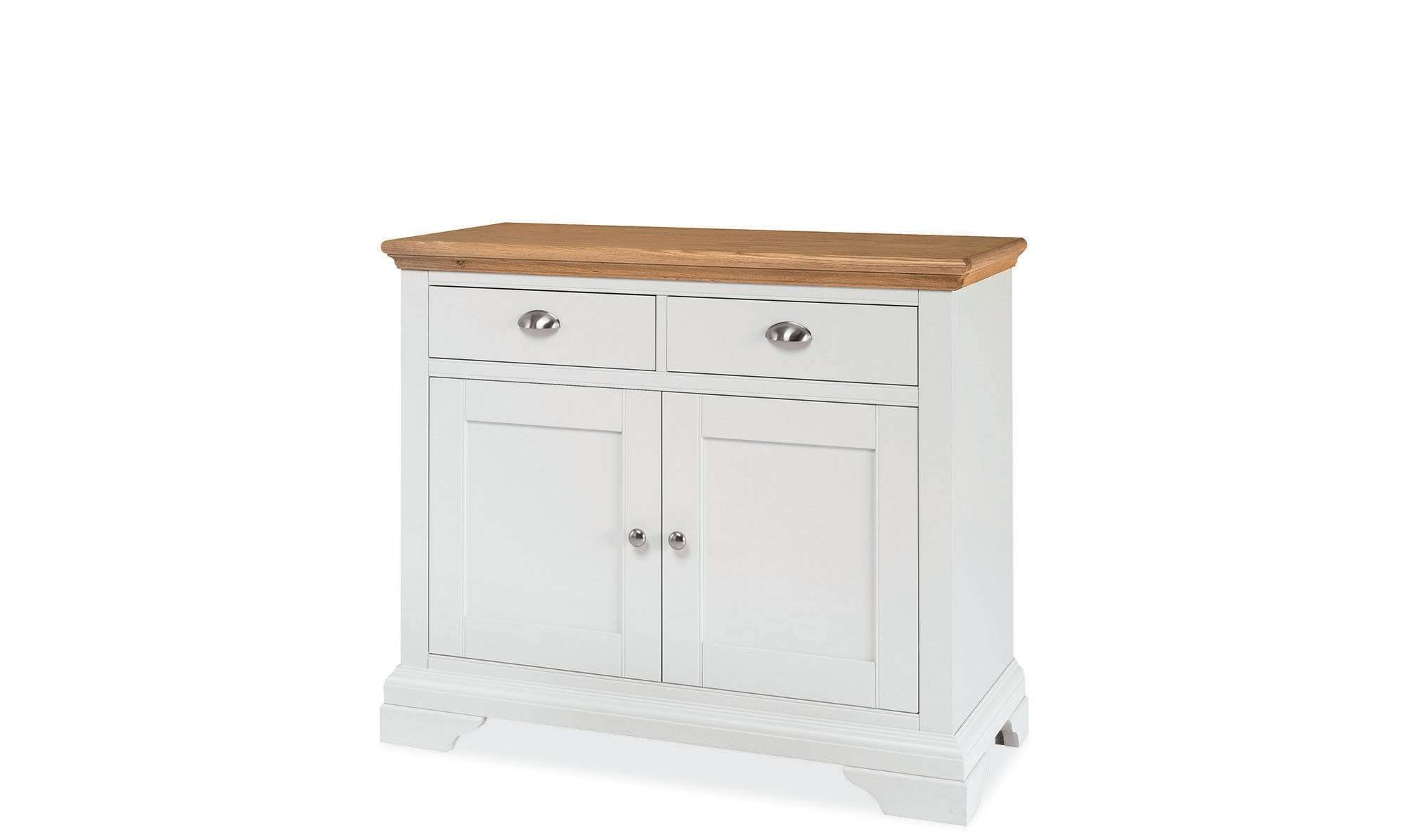 Georgie – Narrow 2 Door Cream Sideboard – Fishpools Pertaining To Cream And Oak Sideboards (View 10 of 20)